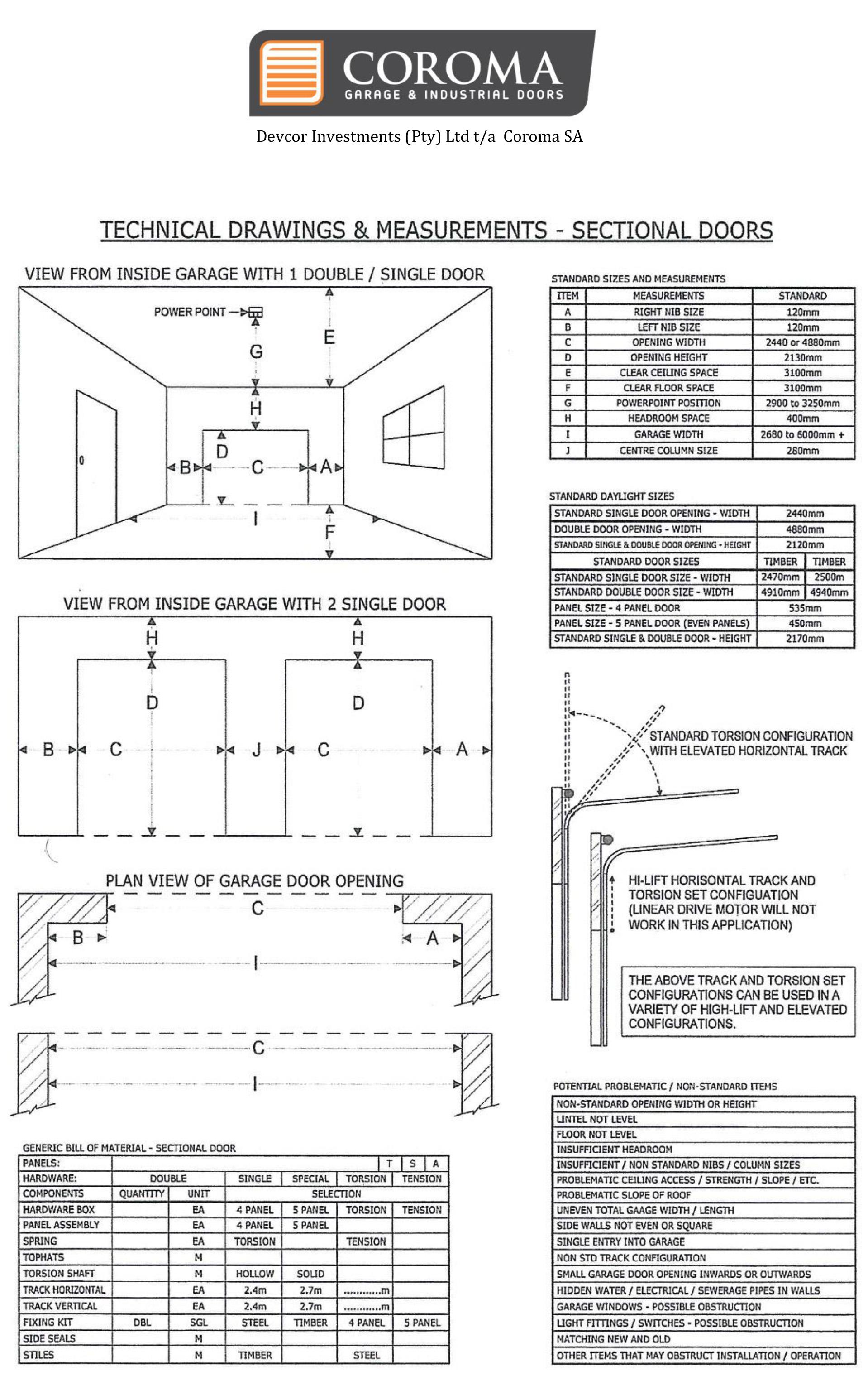 Caroma Doors Amp Technical Drawing U0026 Measurements
